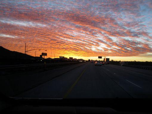 sunsetoverfreeway
